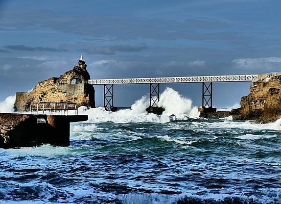 Brücke in Biarritz