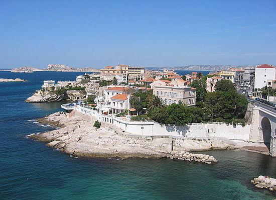 Blick auf die Bucht von Marseille
